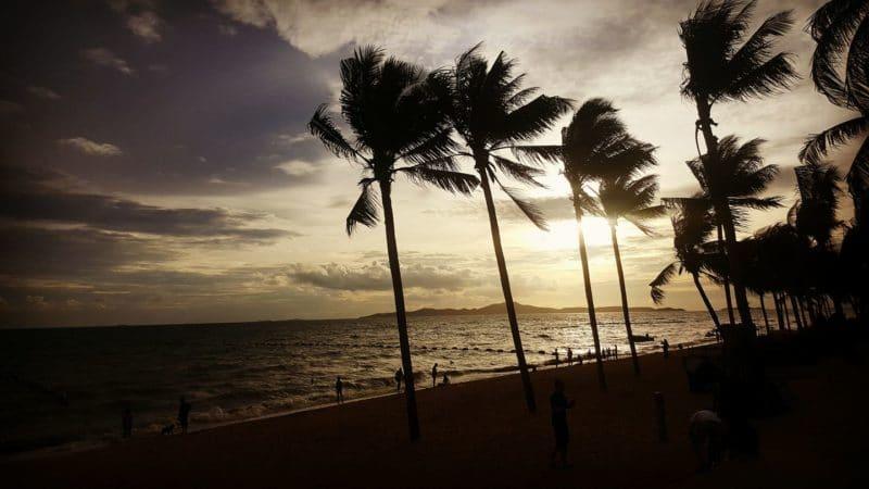 Jomtien beach, Pattaya, Thaïlande