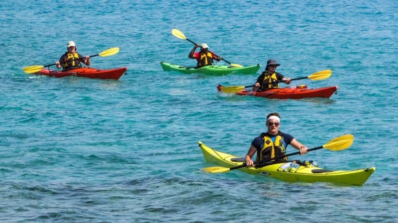 Canoe en mer