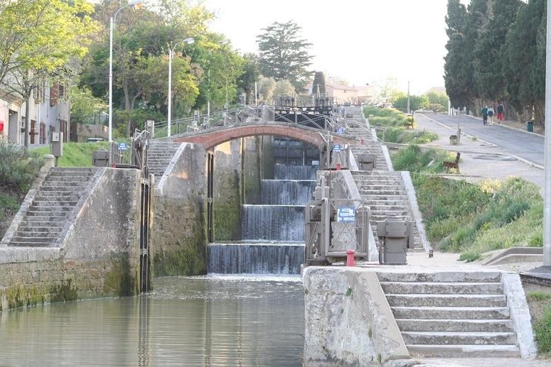 Visiter Béziers, les écluses