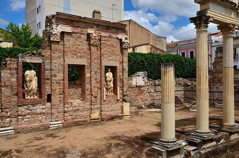 Vestiges archéologiques, Merida, Estrémadure, Espagne