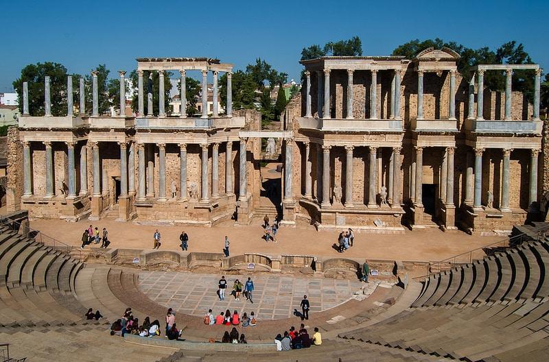 Théâtre romain de Mérida, Estrémadure, Espagne