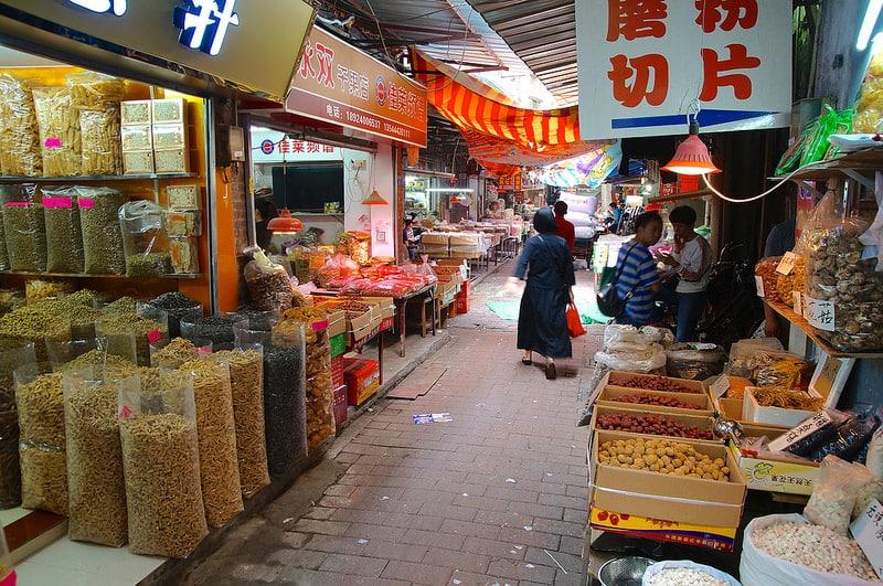 Marché Qingping, Guangzhou, Canton