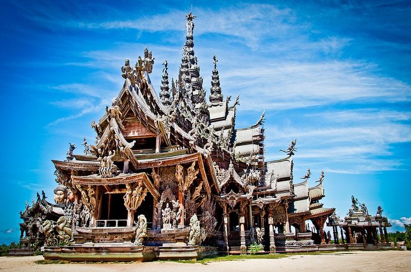Sanctuaire de la Vérité, Quartier Wongawat Naklua, Pattaya, Thaïlande