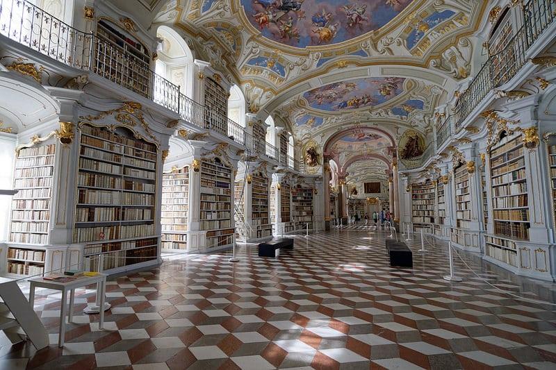Librairie baroque Admont Abbey, Graz