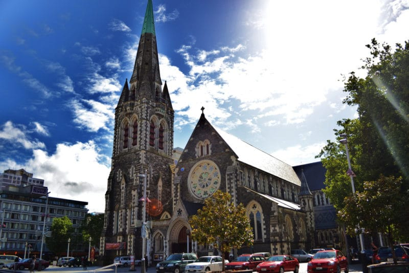 Cathédrale avant tremblement de terre, Christchurch