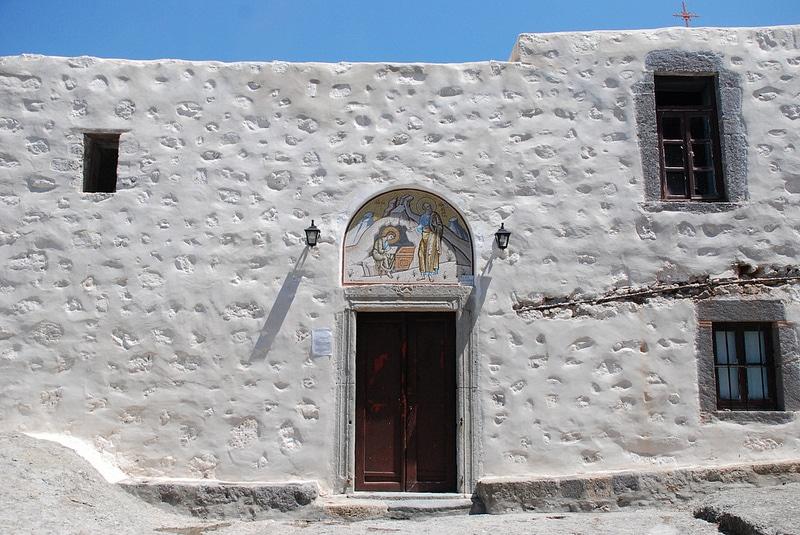 Grotte de l'Apocalypse, Patmos, Grèce, Mer Égée