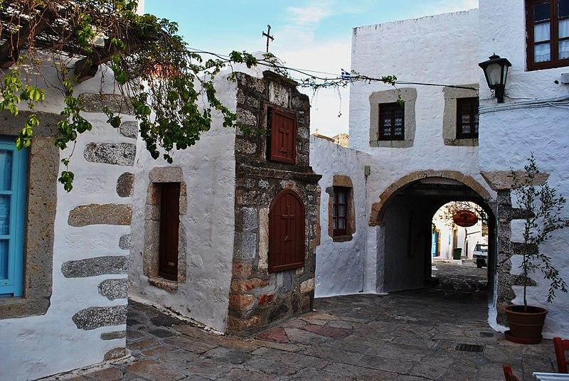 Chora, Patmos, Grèce, Mer Égée