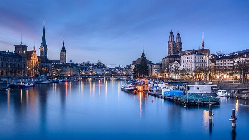 Vue sur Zurich et ses églises