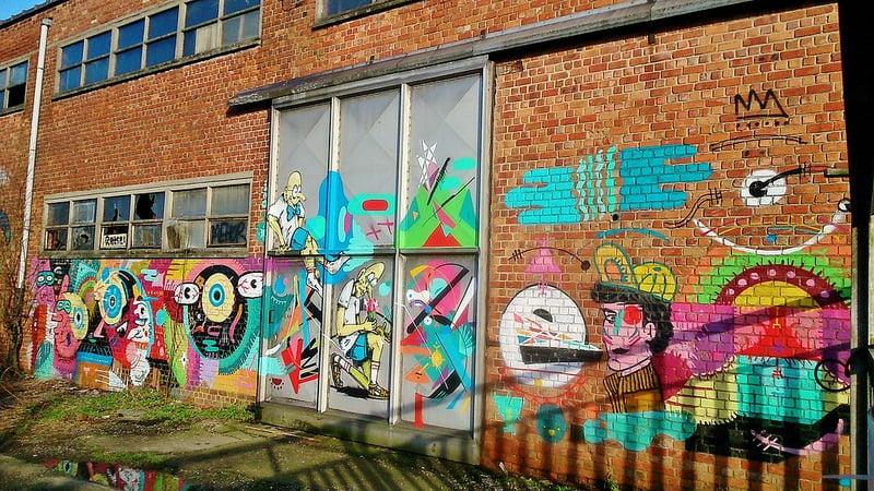 Mur coloré, Gentbrugge, Gand