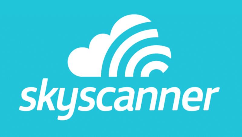 Logo Skyscanner, comparateur de vols