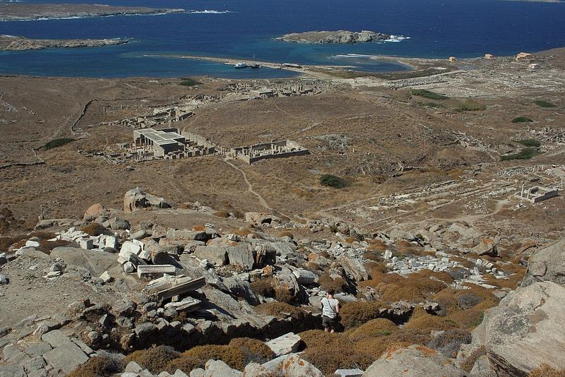 Vue du mont Kynthos, Délos