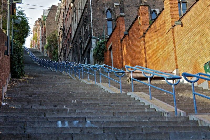 Escaliers, Montagne de Bueren, Liège