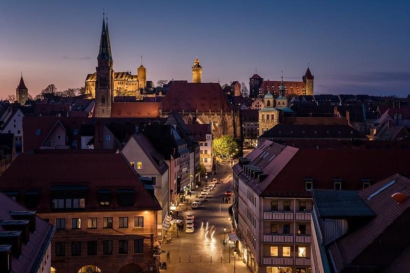Vieille ville, centre-ville, Nuremberg
