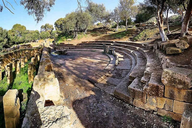 Ruines romaines, par archéologique, Tipaza
