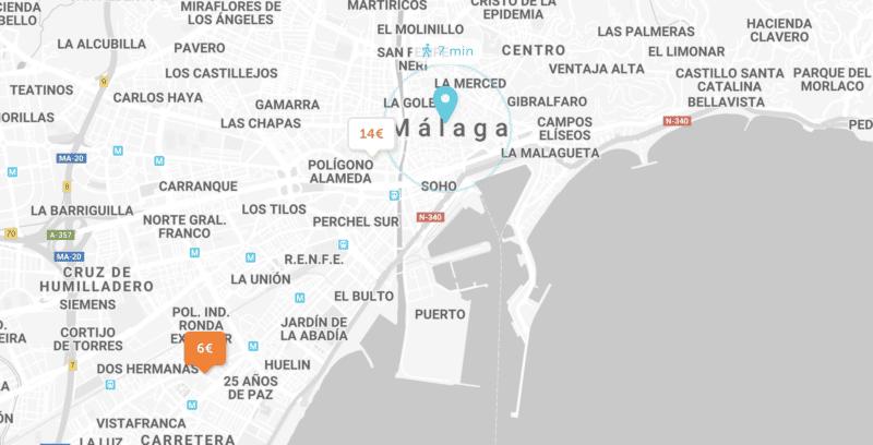 Se garer à Malaga