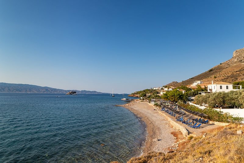 Plages Pakes, Hydra, Grèce
