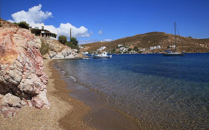 Plage, Patmos, Grèce, Mer Égée