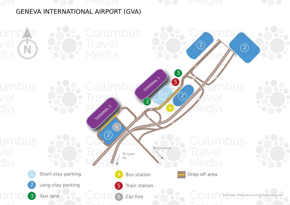 Plan des parkings de l'aéroport de Genève