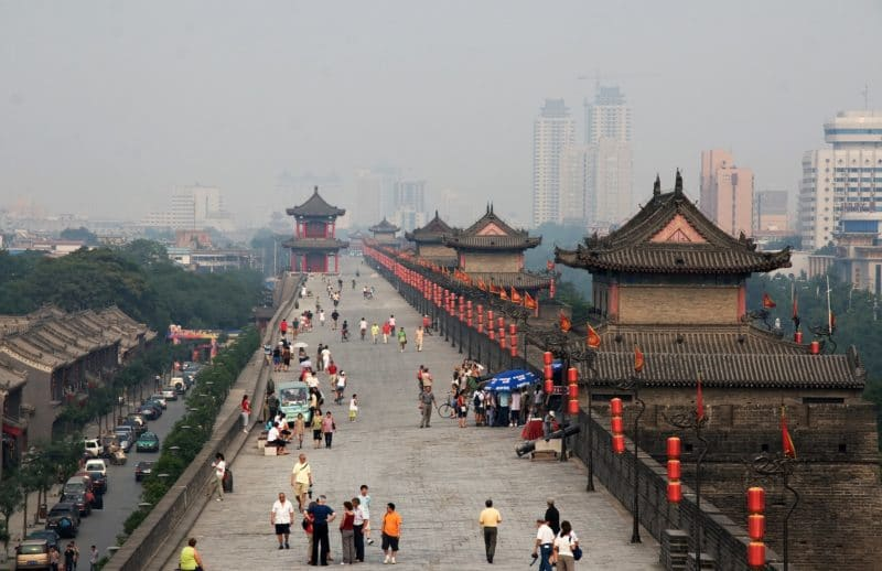 Remparts de la Vieille Ville, Xi'An, Chine