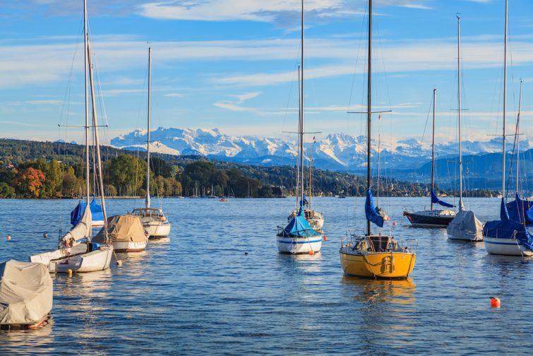 lac de Zurich en Suisse