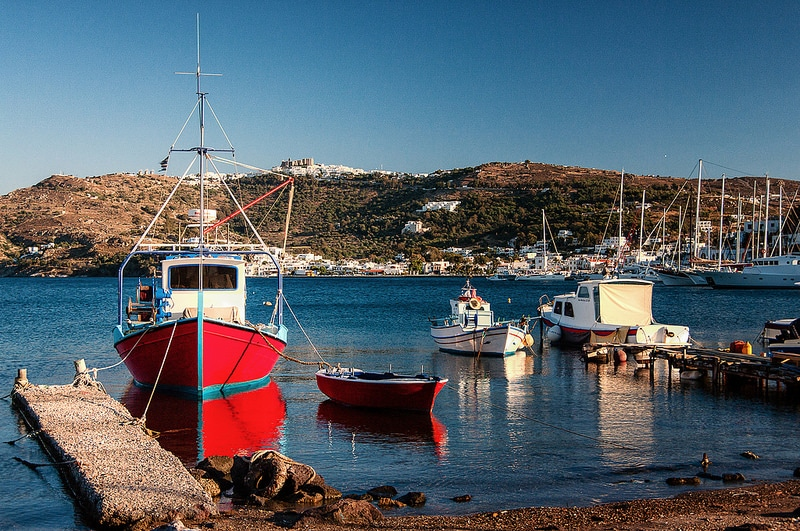Skana, Patmos, Grèce, Mer Égée