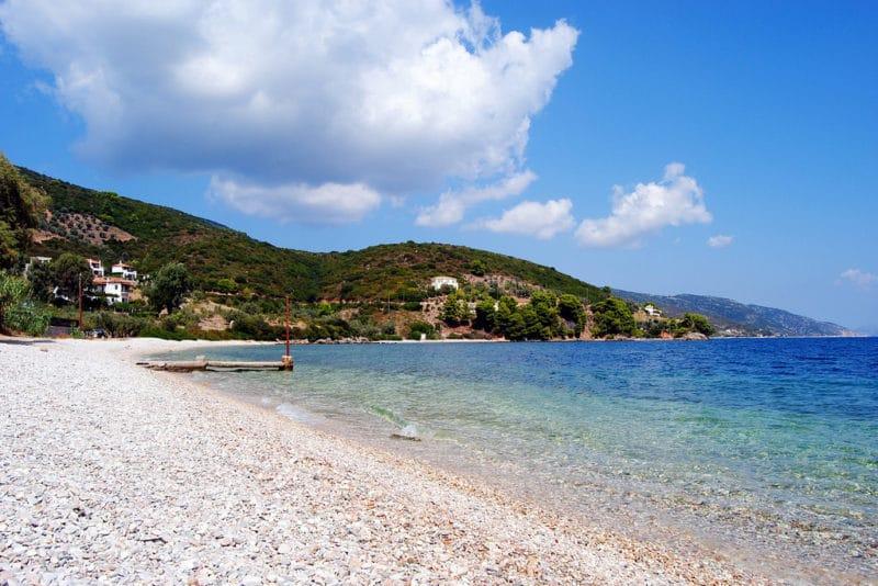 Plage Steni Vala, Alonissos, Grèce