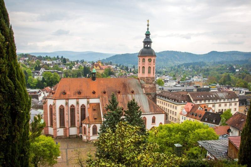 Old town, Stiftskirche, Baden-baden