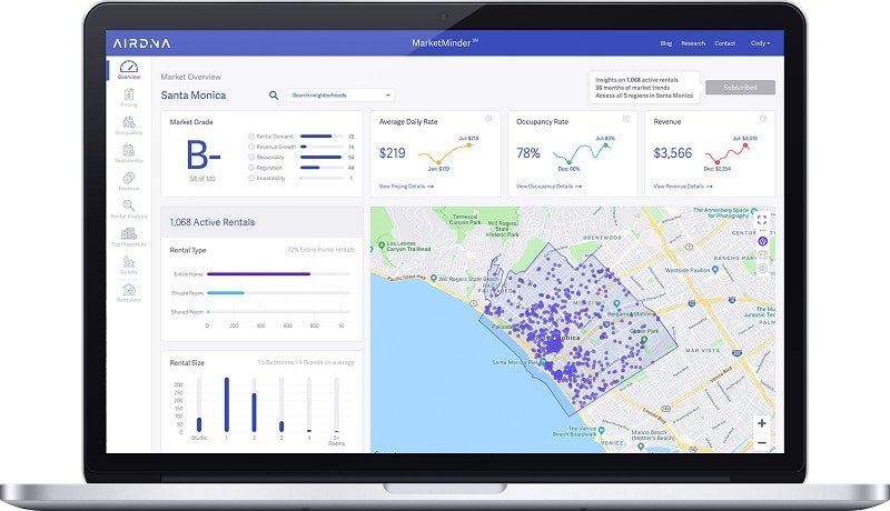 AirDNA, analyse du marché, concurrence, Airbnb