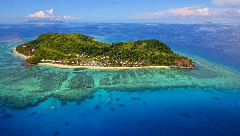 Tokoriki Island, vue aérienne, Fidji