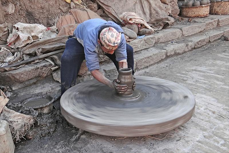Potier à Bhaktapur, Katmandou