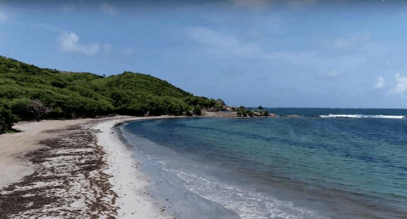 Cas-en-Bas beach, Sainte-Lucie