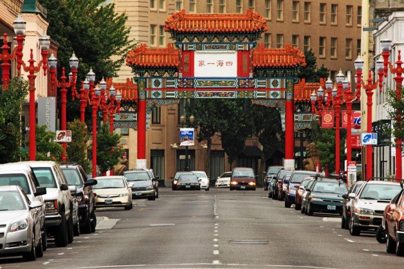 Pont de Chinatown, Pearl District, Portland