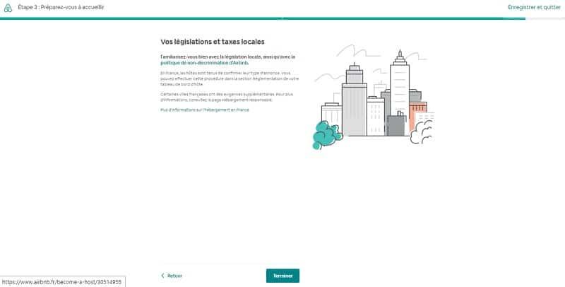 Créer annonce Airbnb, taxes et législation