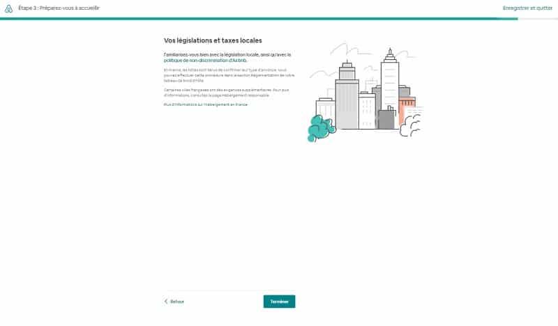 Créer annonce d'une chambre sur Airbnb, législation et taxes