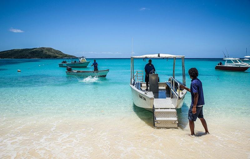 Bateau, balade, Fidji