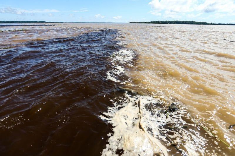 Encontro do Rio Negro com o Solimões, Manaus