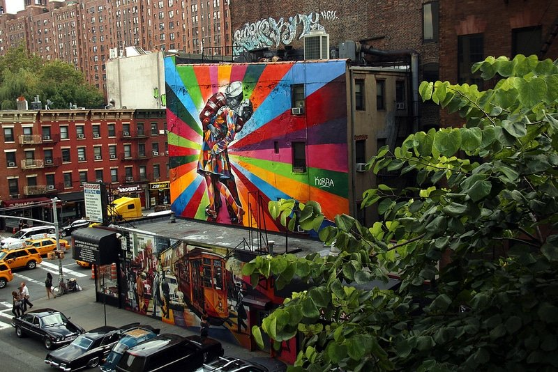 Art, High Line, New-York