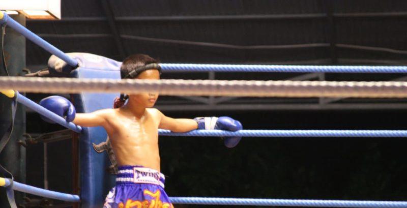 Match de boxe Muay Thai, Koh Phangan