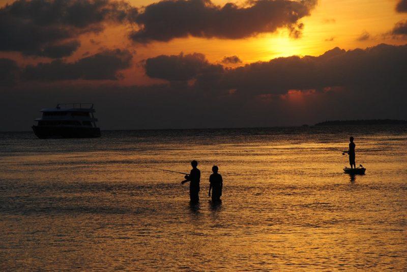 Pêche nocturne, Maldives