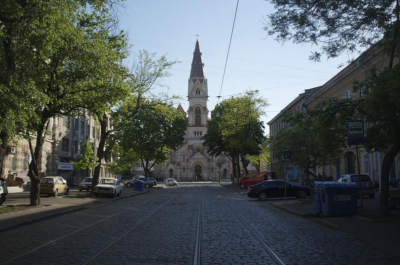 Eglise, centre-ville d'Odessa