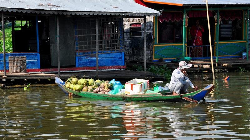 Marché, Sangker, Battambang
