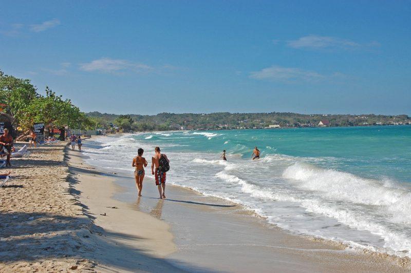Plage Seven Mile Beach, Jamaïque