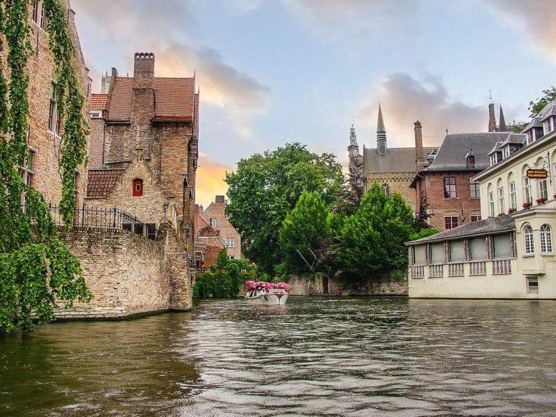 Boat trip, Bruges