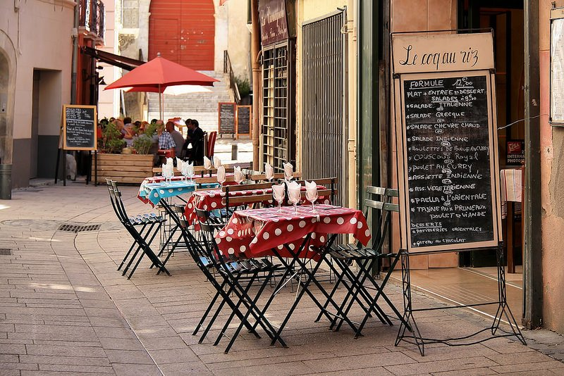 Restaurant, centre-ville, Perpignan