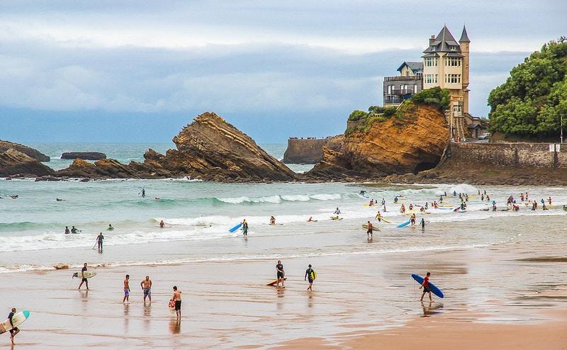 Cote des Basques à Biarritz