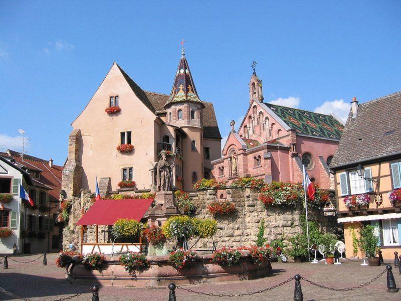 Fontaine Saint-Léon, Eguisheim, Route des Vins d'Alsace