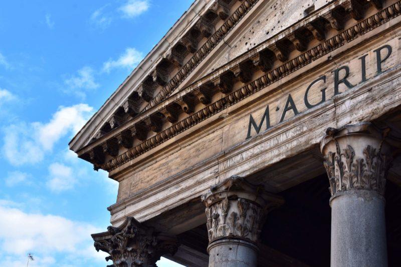 Façade du Panthéon à Rome
