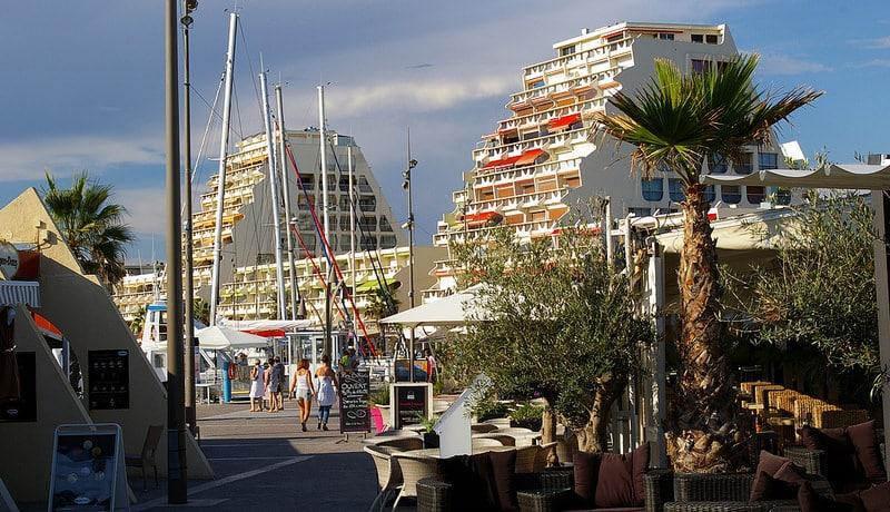 Port de la Grande Motte, centre-ville