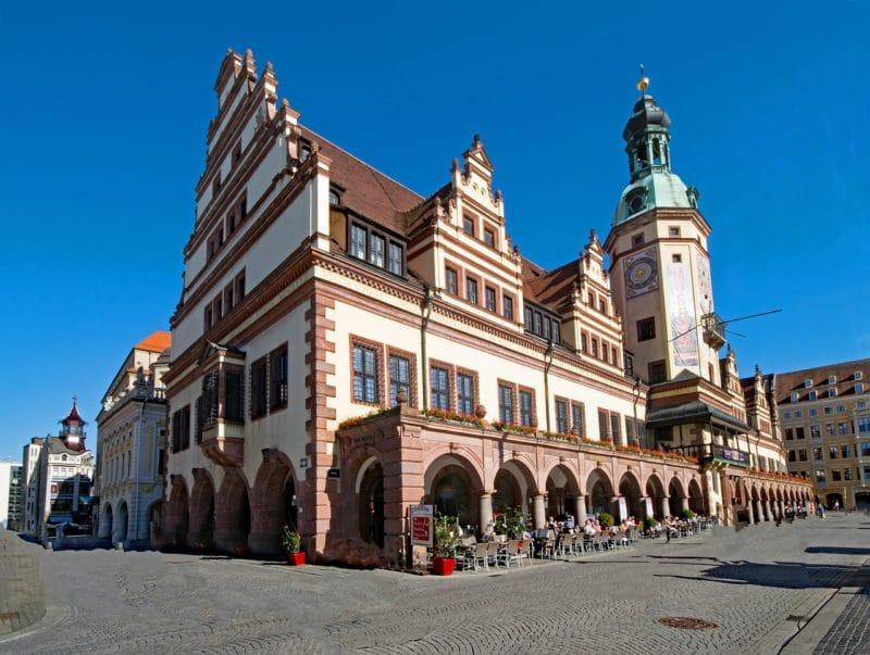 MarktPlatz, centre historique, Leipzig