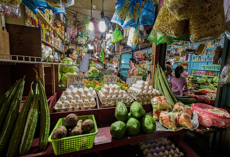 Malate, marché, Manille